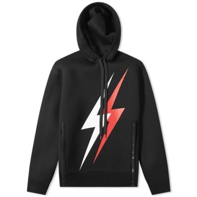 Neil Barrett Large 3D Lightning Bolt Popover Hoody
