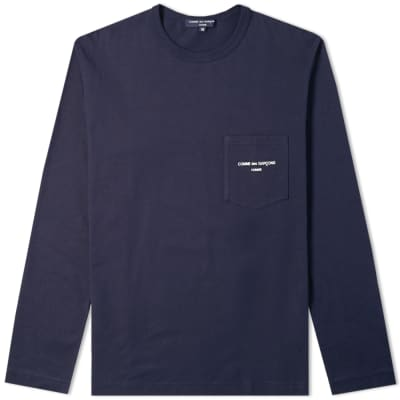 Comme des Garcons Homme Long Sleeve Logo Tee