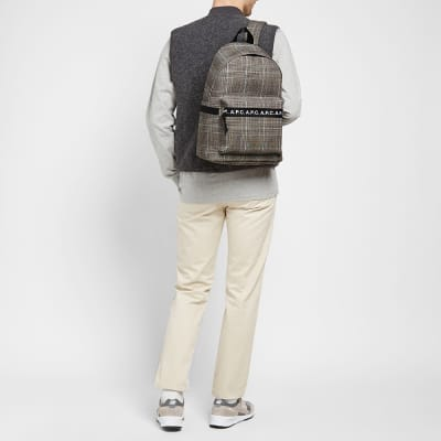 A.P.C. Saville Check Backpack