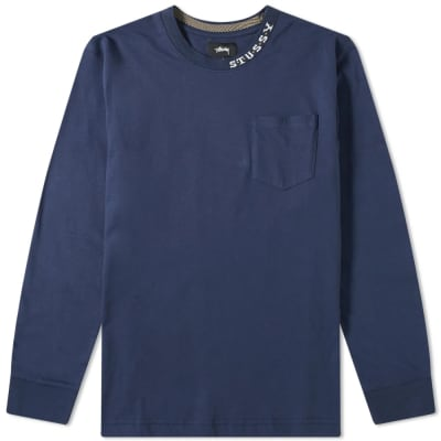 Stussy Long Sleeve Diamonds Tee