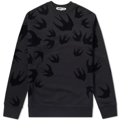 McQ by Alexander McQueen Large Flocked Swallow Sweat