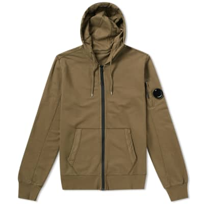 C.P. Company Garment Dyed Light Fleece Zip Hoody