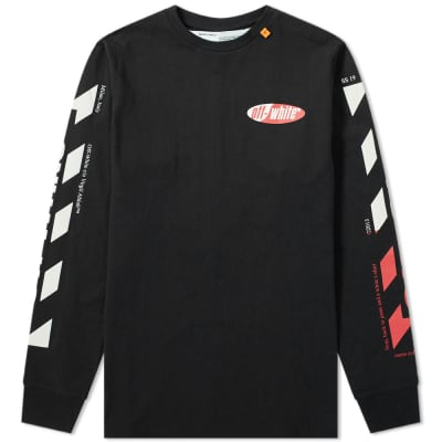 06f8a0a6d Off-White Long Sleeve Split Logo Tee ...