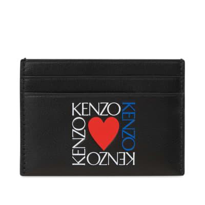 Kenzo Square Logo Heart Card Holder