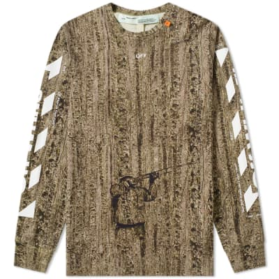 1b9caf86c05 Off-White Real Camo Diagonals Long Sleeve Tee ...