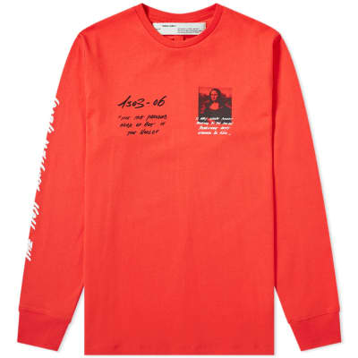 6fffb4c0b4 Off-White Long Sleeve Mona Lisa Tee ...