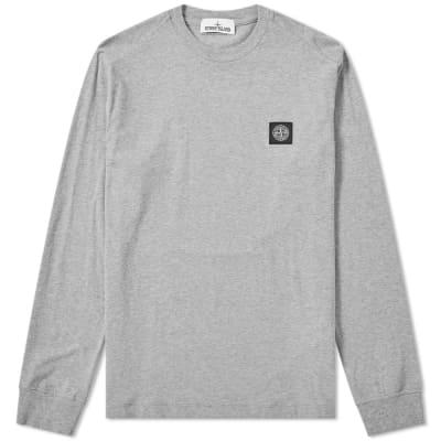 Stone Island Long Sleeve Patch Logo Tee ... a19ac95fa669