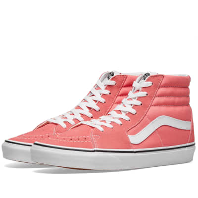 8eaeb216a18 Vans UA SK8-Hi Strawberry Pink   True White
