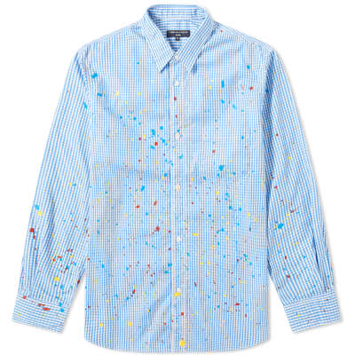 Comme des Garcons Homme Painted Gingham Shirt