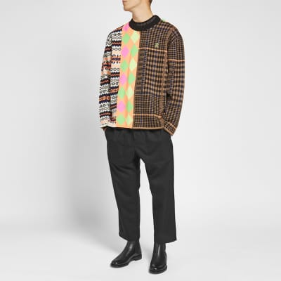 Opening Ceremony Mix Argyle Knit