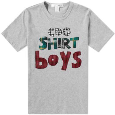 Comme des Garcons SHIRT BOYS Tartan Logo Tee
