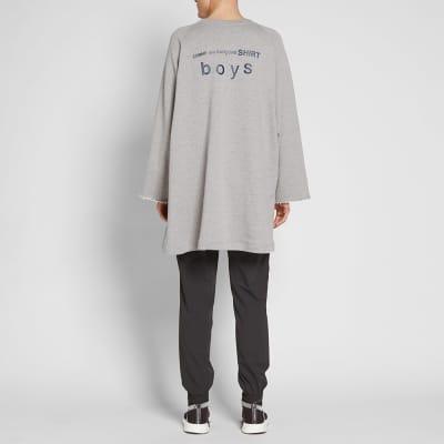 Comme des Garcons SHIRT BOYS Oversized Logo Crew Sweat
