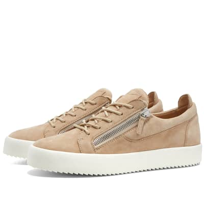 4c993520c4cc Giuseppe Zanotti Nubuck Zip Low Sneaker ...