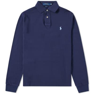Polo Ralph Lauren Long Sleeve Slim Fit Polo ... f828e98c3ff4d