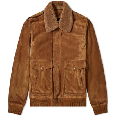 Saint Laurent Suede & Shearling Flight Jacket
