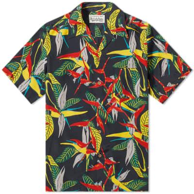 Wacko Maria Leaf Print Vacation Shirt