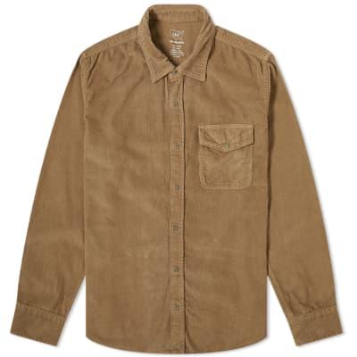 Save Khaki Corduroy Overshirt