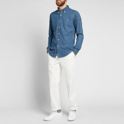 Polo Ralph Lauren Slim Fit Button Down Denim Shirt