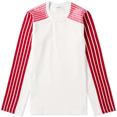 DIMA LEU Long Sleeve Jersey Raglan Stripe Tee