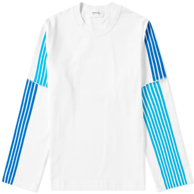 DIMA LEU Long Sleeve Stripe Jersey Tee