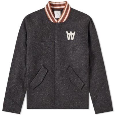 Wood Wood Anthony Wool Varsity Jacket