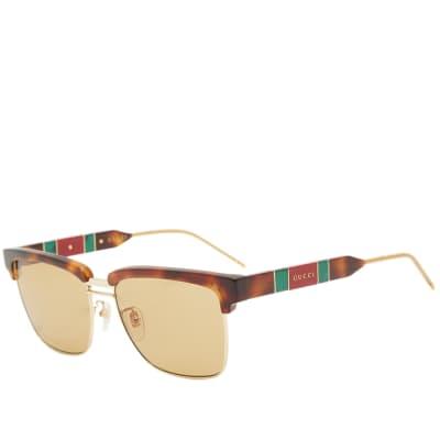 Gucci Sophisticated Web Sunglasses
