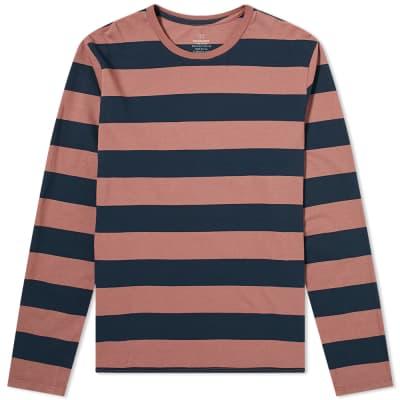 Save Khaki Long Sleeve Rugby Stripe Tee