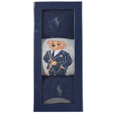 Polo Ralph Lauren Assorted Bear Sock - 3 Pack