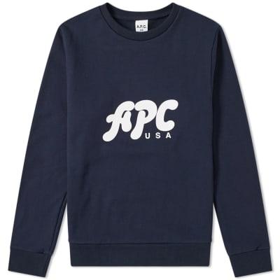 A.P.C. U.S. Gabe Logo Sweat