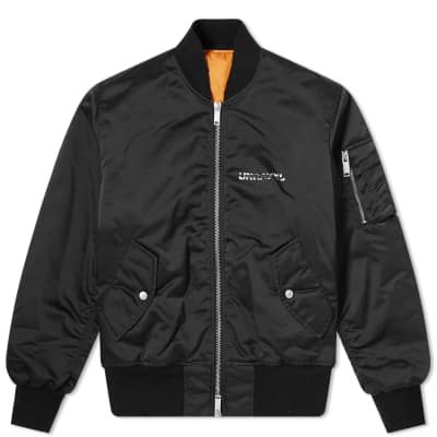 Unravel Project Bones Logo Nylon Bomber Jacket