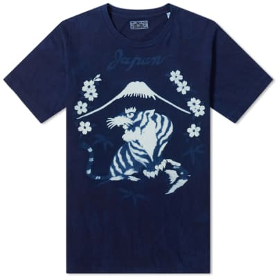 Blue Blue Japan Bassen Sakura Mt. Fuji Tiger Tee