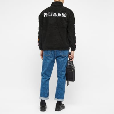 PLEASURES Dead Sherpa Quarter Zip Jacket