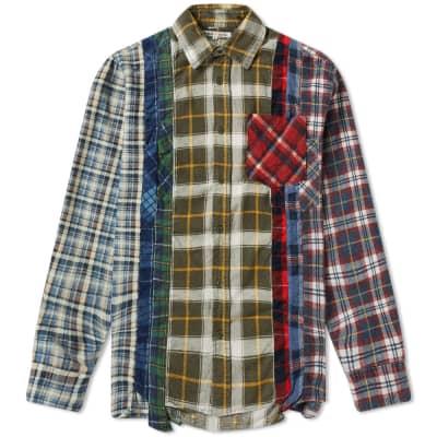 66d55b40592 Needles 7 Cuts Flannel Shirt ...