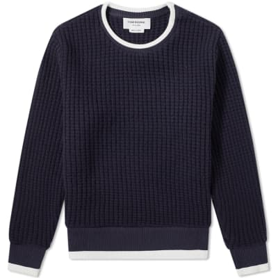 bf0d9d8654905 Thom Browne Chunky Waffle Crew Knit ...