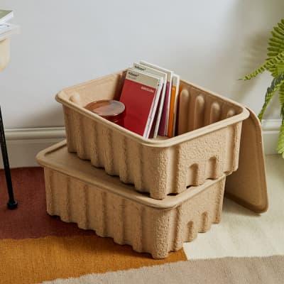 Ferm Living Paper Pulp Boxes - Set of 2