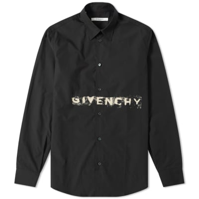 a73a4677de51 Givenchy Faded Logo Poplin Shirt ...