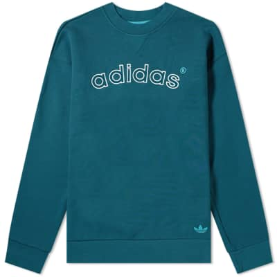 43f2aa1587a45a Adidas 90 s Archive Arch Logo Crew Sweat ...
