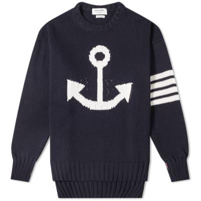 753e6d955183 Thom Browne Anchor Intarsia Crew Knit ...
