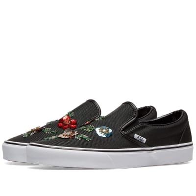 d322367374 Vans UA Classic Slip On Floral Sequins ...
