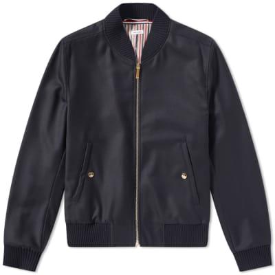 Thom Browne Stripe Wool Bomber Jacket