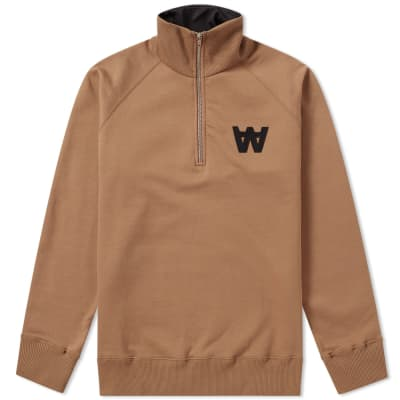 Wood Wood Curtis Half Zip Sweat