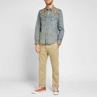 RRL Embroidered Western Shirt