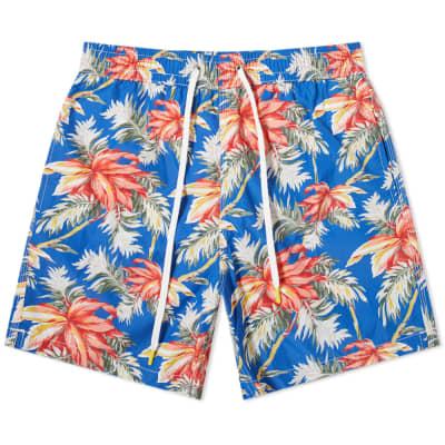 Hartford All Over Hibiscus Print Swim Short