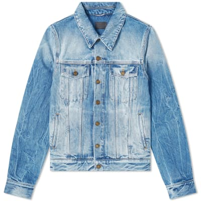 Saint Laurent Washed Denim Jacket