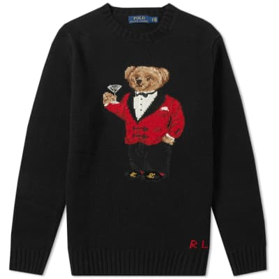 Polo Ralph Lauren Lunar New Year Bear Crew Knit ... 7b24567f1ec