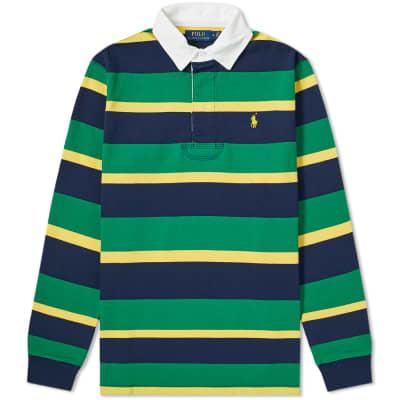 Polo Ralph Lauren Long Sleeve Striped Rugby Shirt ... 78689cf72da