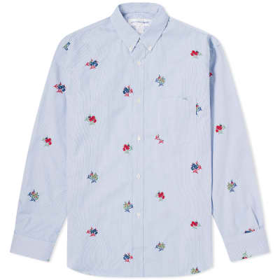 14bcaa7cf55 Comme des Garcons SHIRT Button Down Embroidered Shirt ...