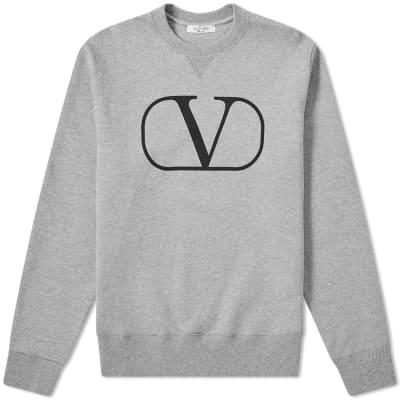 73918f591a1d4 Valentino V Logo Crew Sweat ...