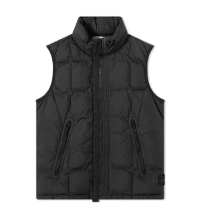 Stone Island Junior Crinkle Reps Down Hooded Gilet