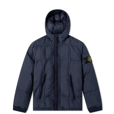 Stone Island Junior Short Crinkle Reps Down Jacket